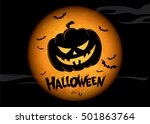 halloween holiday. vector... | Shutterstock .eps vector #501863764