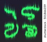 polar lights collection. vector ... | Shutterstock .eps vector #501866359