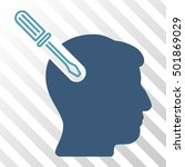 cyan and blue head surgery... | Shutterstock .eps vector #501869029