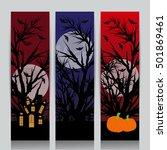 happy halloween design | Shutterstock .eps vector #501869461