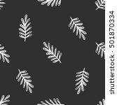 white leaves pattern line art | Shutterstock .eps vector #501870334