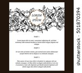 vintage delicate invitation... | Shutterstock . vector #501870394