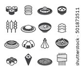 japanese food icons | Shutterstock .eps vector #501873511