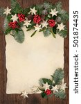 christmas abstract background... | Shutterstock . vector #501874435