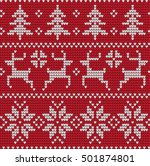 knitted christmas and new year... | Shutterstock .eps vector #501874801