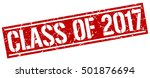 class of 2017. grunge vintage... | Shutterstock .eps vector #501876694