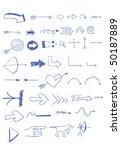set of arrow doodles | Shutterstock .eps vector #50187889
