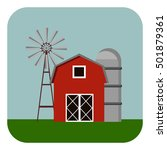 building icon  barn vector... | Shutterstock .eps vector #501879361
