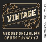 vintage decorative font.vector... | Shutterstock .eps vector #501879814