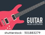 band music electric guitar icon ...