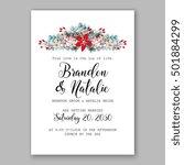 romantic pink peony bouquet... | Shutterstock .eps vector #501884299