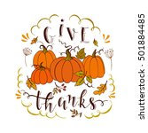 vector thanksgiving design... | Shutterstock .eps vector #501884485