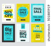 flat design sale website... | Shutterstock .eps vector #501885919