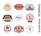 cake logo set | Shutterstock .eps vector #501888601