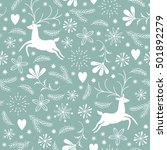 seamless christmas pattern | Shutterstock .eps vector #501892279