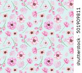 seamless pattern with... | Shutterstock . vector #501909811