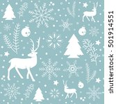 christmas pattern  with text... | Shutterstock .eps vector #501914551