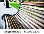 Outdoor Wooden Bench Taken At...