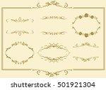 frame set vector  | Shutterstock .eps vector #501921304