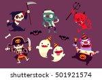 set of halloween characters...