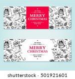 christmas banner. vector hand... | Shutterstock .eps vector #501921601