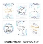 vector hand drawn modern cards. ... | Shutterstock .eps vector #501922519