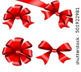 red bows  ribbon  on a white | Shutterstock . vector #501922981