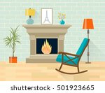 living room interior with... | Shutterstock .eps vector #501923665