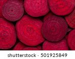 beetroot slice closeup....
