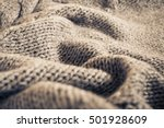 Knitted Fabric Wool Texture...