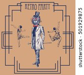 retro party design with old... | Shutterstock .eps vector #501929875