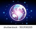 vector digital global... | Shutterstock .eps vector #501930205