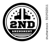 second amendment to the us... | Shutterstock .eps vector #501932011