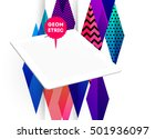 tablet pc icon with geometric... | Shutterstock .eps vector #501936097