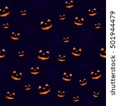 seamless halloween pattern  | Shutterstock .eps vector #501944479