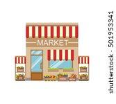 vegetable market commercial... | Shutterstock .eps vector #501953341