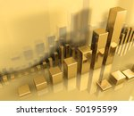 large gold chart in the center  ... | Shutterstock . vector #50195599
