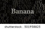 banana   3d rendered metallic... | Shutterstock . vector #501958825