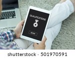 qualifications concept | Shutterstock . vector #501970591