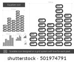 equalizer vector line icon... | Shutterstock .eps vector #501974791