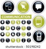 24 communication buttons. vector | Shutterstock .eps vector #50198242