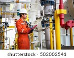technician technician in oil... | Shutterstock . vector #502002541