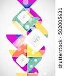 modern square abstract... | Shutterstock .eps vector #502005631