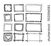 hand drawn rectangle frames set.... | Shutterstock .eps vector #502006081