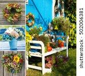 garden idyll collage