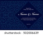 wedding invitation cards with... | Shutterstock .eps vector #502006639