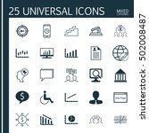 set of 25 universal editable... | Shutterstock .eps vector #502008487
