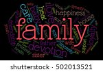 colored family word cloud on... | Shutterstock .eps vector #502013521