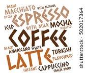 creative coffee word cloud on...   Shutterstock .eps vector #502017364