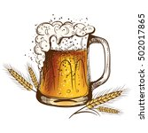 light beer isolated on a white... | Shutterstock .eps vector #502017865